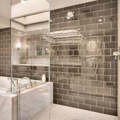 6x12 Grey Porcelain Floor Tile Design Ideas, Pictures, Remodel, and Decor - page 3