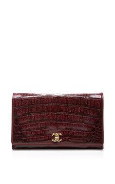 Chanel Burgundy Caiman Shoulder Bag