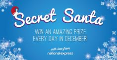 I just entered the National Express Secret Santa competition - win an amazing prize every day in December!