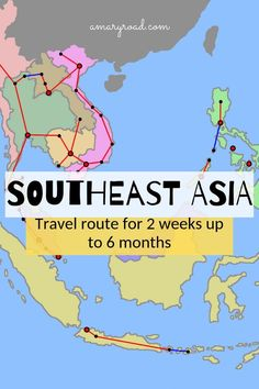 Southeast Asia Travel Route and Itineraries: From 2 weeks up to 6 months Planning your Southeast Asia itinerary? Check this very detailed Southeast Asia travel route; from 2 weeks, 4 weeks, 3 months or 6 months plus budget, safety Visit Vietnam, Vietnam Travel, Asia Travel, Laos, Luang Prabang, Thailand Travel Guide, Cambodia Travel, Backpacking Asia, Singapore