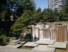 japanese style water features | Urban and Modern Waterfalls – Ira's Fountain, Portland, Oregon