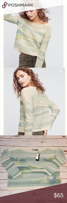 """🆕 Anthropologie Frosted Horizon Pullover Large 🆕 NWT Anthropologie Frosted Horizon Pullover Large. Neutral Colors are Cream, Blue and Green. Material: 25% Nylon, 33% Acrylic, 25% Aplaca , 6% Metallic Fiber, 11% Polyester. Dry Clean. Measurements laying flat: Bust: 24"""", Length: 24"""". sleeves: 17.5"""". 🚫 NO TRADES OR LOW BALL OFFERS🚫 A3 Anthropologie Sweaters"""