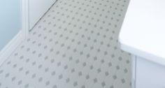 Bathroom | Octagon & Dot - Matte White Grey Gloss Dot | DALTILE