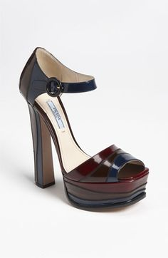Prada Colorblock Platform Sandal