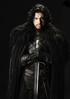 PhotoShop of John Snow from Game of Thrones and Joe Rogan