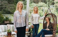 Nell Newman, Clea Newman Soderlund, and Lissy Newman — at their family home in…