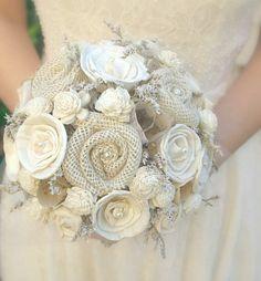 Rustic Cream Ivory Bride's Alternative Wedding by TheSunnyBee, $134.00