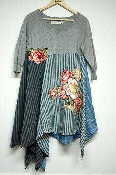 Up to size Large Boho Chic Tunic Dress in by PrimitiveFringe
