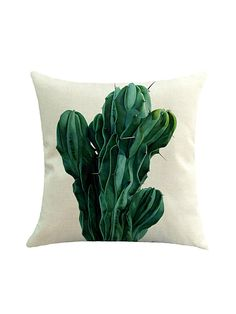 Shop Contrast Cactus Print Cushion Cover online. SheIn offers Contrast Cactus Print Cushion Cover & more to fit your fashionable needs.