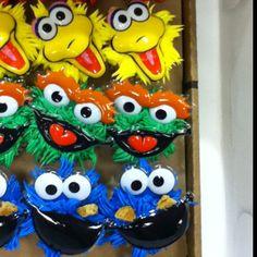Sesame street cupcakes-making these for Nola's birthday tomorrow!
