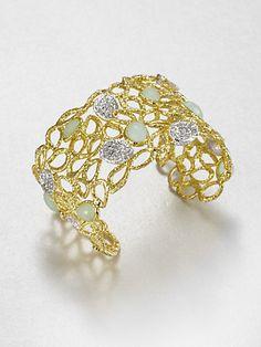 Alexis Bittar - Jeweled Openwork Cuff Bracelet - Saks.com