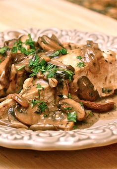 Balsamic Cream Chicken with Mushrooms | The Hopeless Housewife