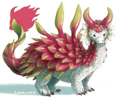 fruit dragons ! click through to see whats what - fun fact the dragonfruit was the First One made but as i had no plans to make the rest of em at the time theres a noticable difference in quality and...