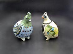 Tonala Mexico Art Pottery, Large Ken Edwards Bird Figurines