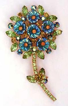 DeLizza & Elster Flower Brooch - Garden Party Collection Vintage Jewelry