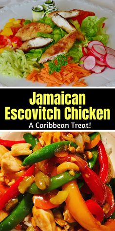 II➤ Have you tried Jamaican Escovitch Chicken? ✅ It is delicious! ✅ Similar to the Escovitch Fish, this recipe is the perfect combination of meat, spices, and veggies. ✅ It is the ultimate Jamaican street food. Jamaican Dishes, Food Film, Good Food, Yummy Food, Small Restaurants, Weird Food, Seasonal Food, Side Dish Recipes, Oven Recipes