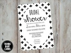 Monochrome Baby Shower Invitation Printable - Black & White Baby Shower Invites with Crosses, Gender Neutral, Boy or Girl BC Hens Party Invitations, Birthday Invitations Kids, Printable Baby Shower Invitations, Bridal Shower Invitations, Invites, Invitation Ideas, White Baby Showers, Bridal Shower Party, Monochrome