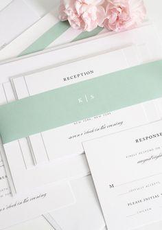 Timeless script wedding invitations
