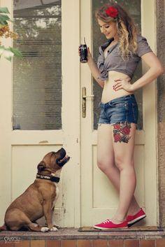 Pinups for Pitbulls & Imperial tattoo girls