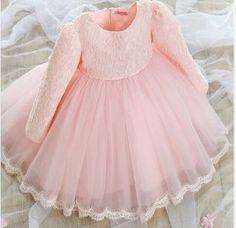 Couture Pink Lace Dress girls lacy dress flower von fabposhtots