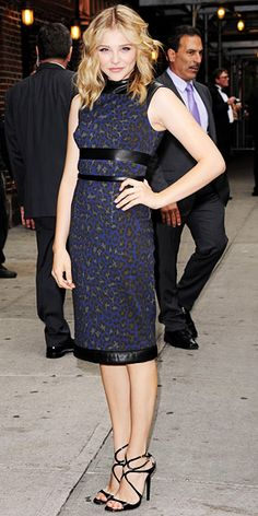 Chloe Moretz in Christopher Kane with Jimmy Choo sandals...