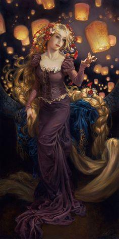 7 Beloved Disney Princesses Spring To Life As Fine Art