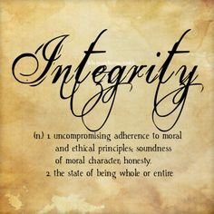 deliciousdefinitions: Integrity