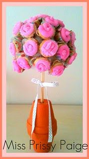 cup cake topiary!