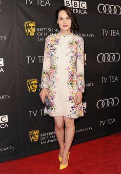 Michelle Dockery wearing  Erdem dress