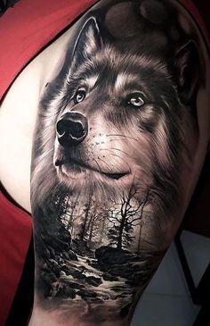 Wolf Tattoos Men, Girl Arm Tattoos, Upper Arm Tattoos, Maori Tattoos, Arm Tattoos For Women, Animal Tattoos, Body Art Tattoos, Tattoos For Guys, Amazing Tattoos For Women