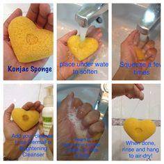 How to use your Konjac Sponge #KonjacSponge #FeelingClean