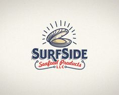 Surf Side Seafood Co. Logo Inspiration Gallery | More logos http://blog.logoswish.com/category/logo-inspiration-gallery/ #logo #design #inspiration