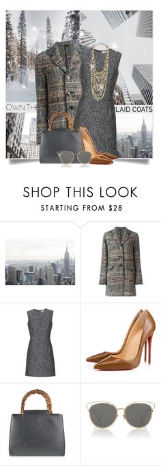 """Pattern Mix: Plaid Coats"" by tina-abbara ❤ liked on Polyvore featuring Etro, Balenciaga, Chanel, Christian Louboutin, Gucci and Christian Dior"
