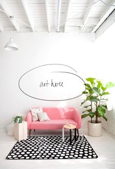 pink couch #pink #homedecor #couch