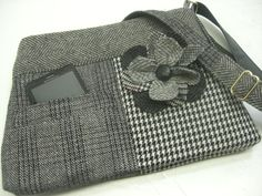 Clutch Purse Eco Friendly Recycled  wool Suit Coat by SewMuchStyle,