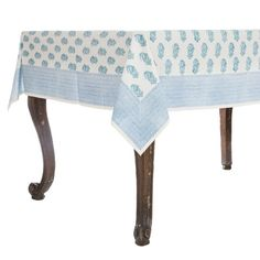 Hand Block Printed Tablecloths Available In Three Different Sizes.  Entertain In Style With Colorful Tablecloths Available In And