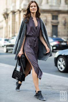 Street Style during Paris Fashion Week SS 2016