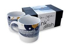 Basket by Dana Oldfather for Ink Dish 2 Mug Gift Set.