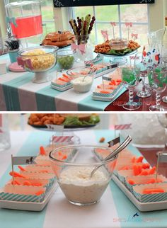 Horses & Hairbows party from She's Kinda Crafty! #horses #hairbows #party #partyideas #partyfood