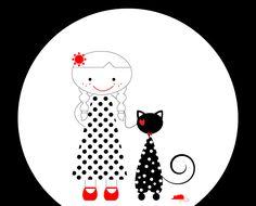 Illustrazioni.Cani, gatti e l'amore.