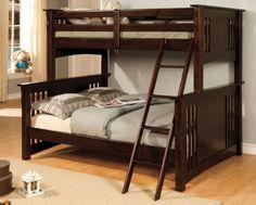 Furniture of America Concord Bunk Bed, Twin/Full, Espresso