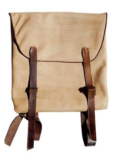 Canvas bag|leather straps...