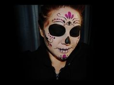 This looks so simple. It's NOT. Halloween: Sylvia Ji inspired Sugar Skull