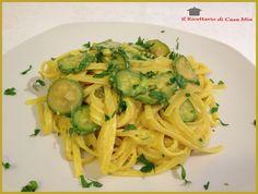 Linguine con Zucchine Robiola e Zafferano