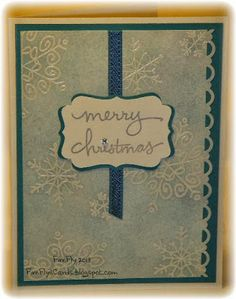 Merry Christmas Snowflakes ~ Stamps - Endless Wishes Paper - Island Indigo, Whisper White Ink - Silver Encore, VersaMark Embossing Powder - Clear Punches - Decorative Label, Scallop Boarder Ribbon - Island Indigo Jewel - Rhinestone Winter Cards, Holiday Cards, Christmas Cards, Merry Christmas, Christmas 2014, Snowflake Cards, Christmas Snowflakes, Endless Wishes, Create Your Own Card