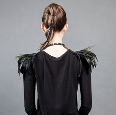 Feather shoulders Burning man Burning Man, Feather, Dreadlocks, Shoulder, Hair Styles, Beauty, Tops, Women, Fashion