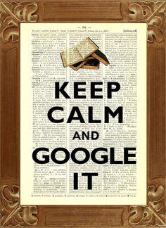 Keep Calm and call google it Wörterburch Druck // print by PrintLand via dawanda.com