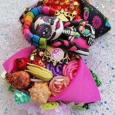 México catrina calaca flaca folklor día muertos moño bincha bow