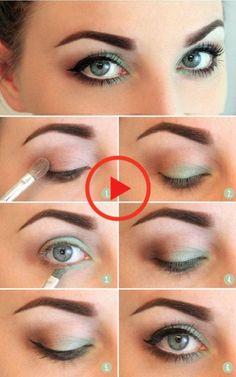 Eye Makeup Looks for Blue Eyes - trendstutor Summer Eye Makeup, Makeup For Green Eyes, Creative Eye Makeup, Simple Eye Makeup, Easy Makeup, Natural Makeup, Eyeshadow Tips, Brown Eyeshadow, No Eyeliner Makeup