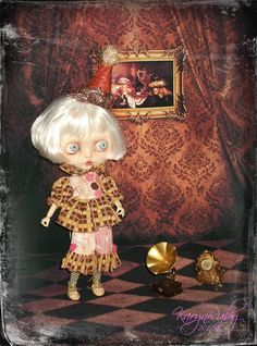 Blythe   Circus Act 1900's Inspired  3 Piece Outfit By